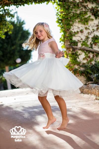 vestido niña combinado fantástico