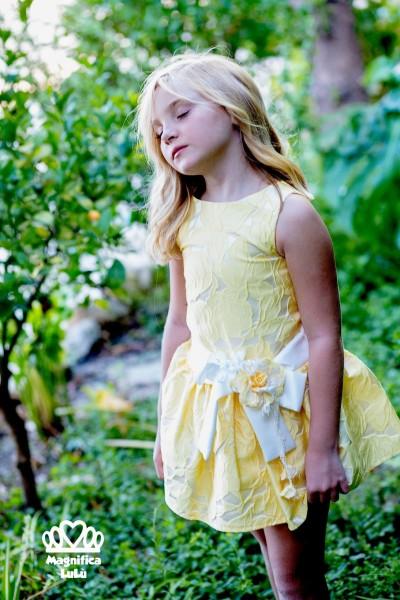 vestido ceremonia amarillo
