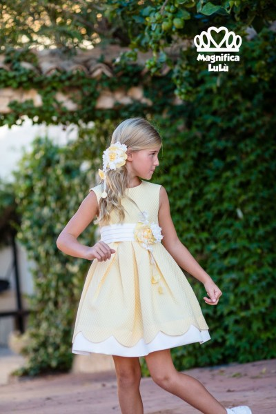 vestido amarillo flor