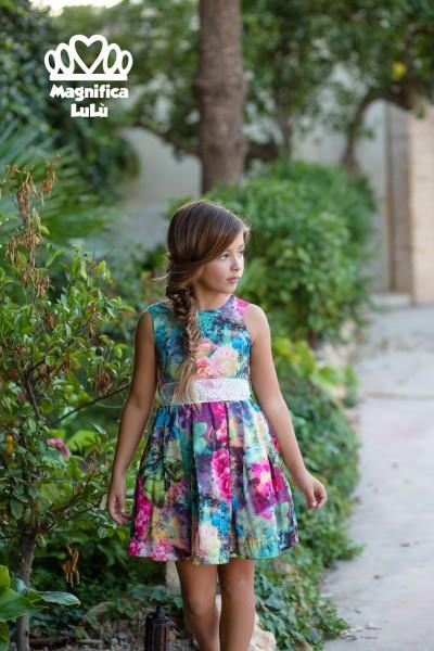 Conjunto infantil tejido vaporoso y natural